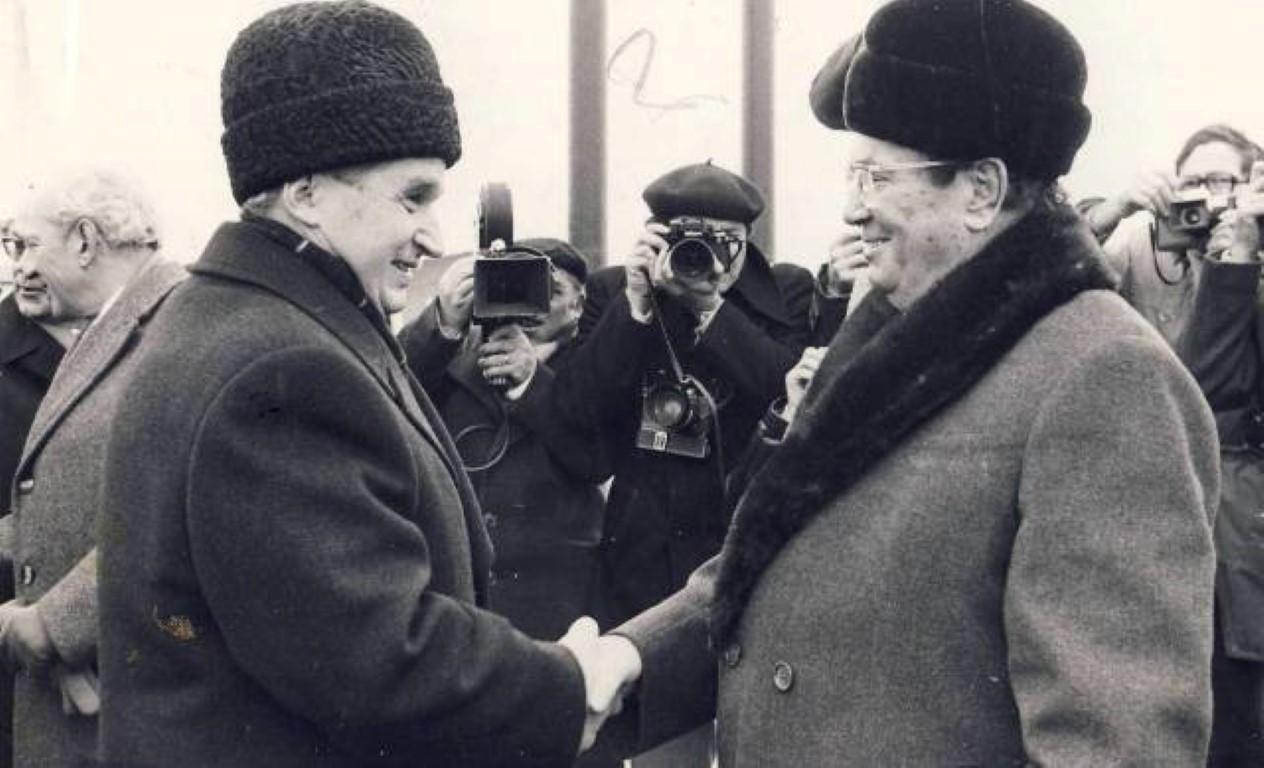 Ceauşescu in Tito leta 1977. Foto: Državni arhiv Romunije