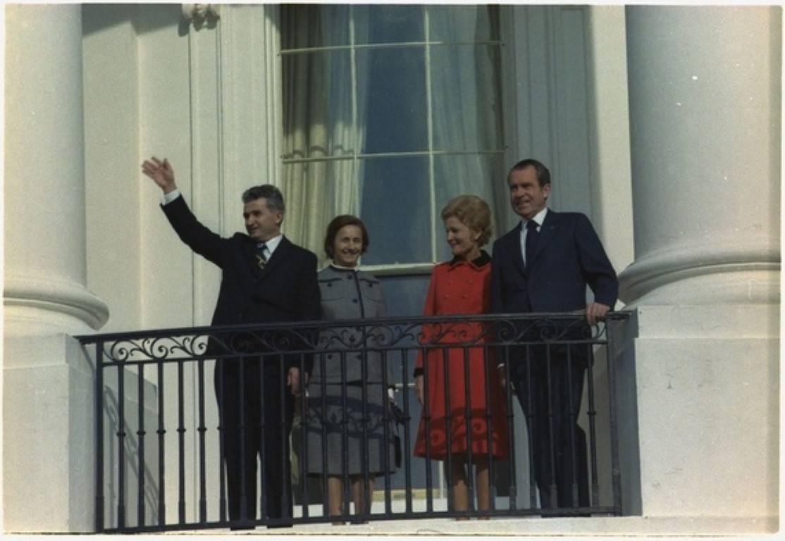 Ceausescu na obisku pri Nixonu v Beli hiši. Foto: DRžavni arhiv ZDA