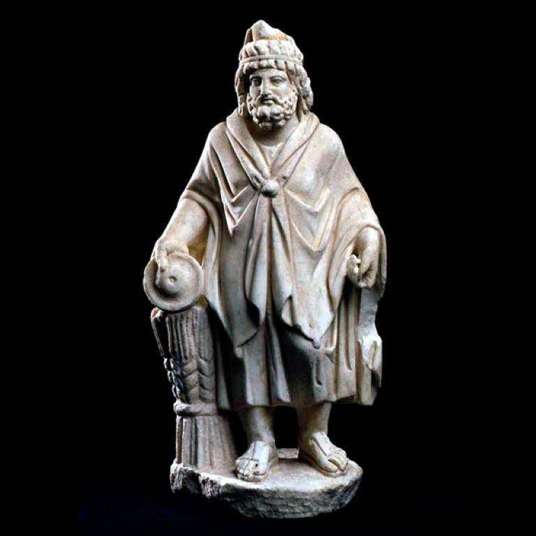 Marmornata skulptura boga Saturna
