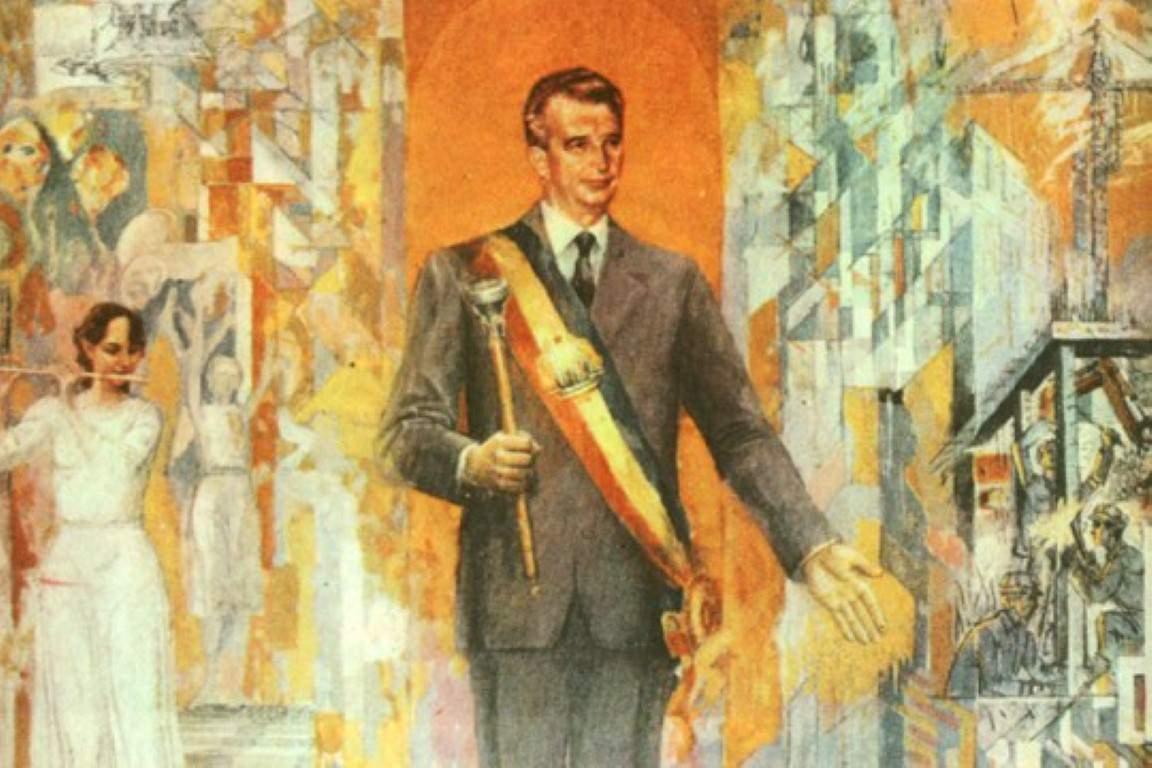 Ena izmed mnogih slik, ki jih je Ceauşescu dobil v dar. Hrani: Muzej sodobne umetnosti v Bukarešti
