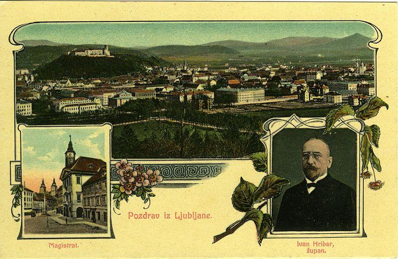 Ivan Hribar, upodobljen kot župan Ljubljane leta 1909 (commons.wikimedia.org)