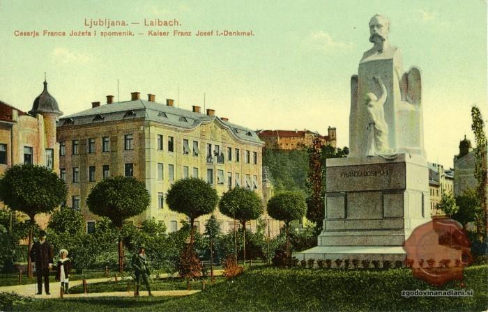 Spomenik Francu Jožefu v Ljubljani. (zgodovinanandlani.si)