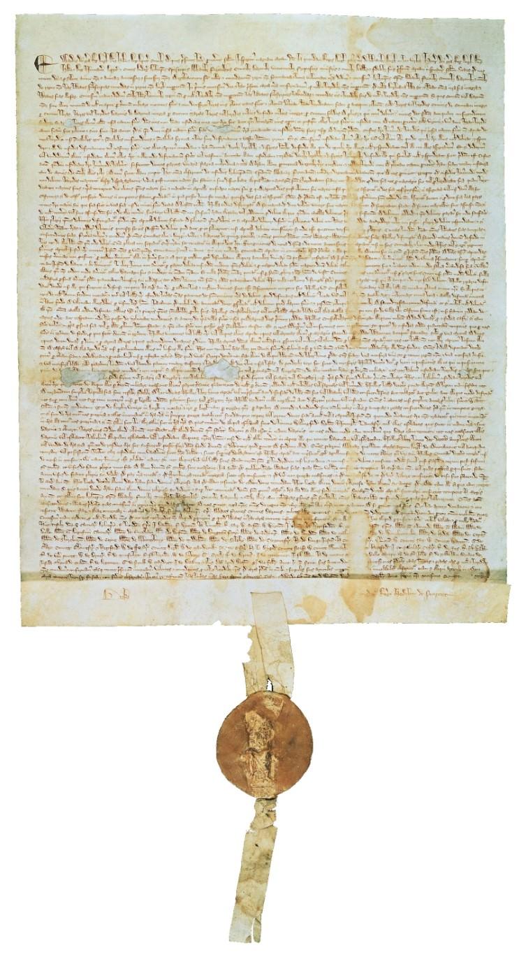 Kopija Magne Carte iz leta 1217. Foto: historyofinformation.com