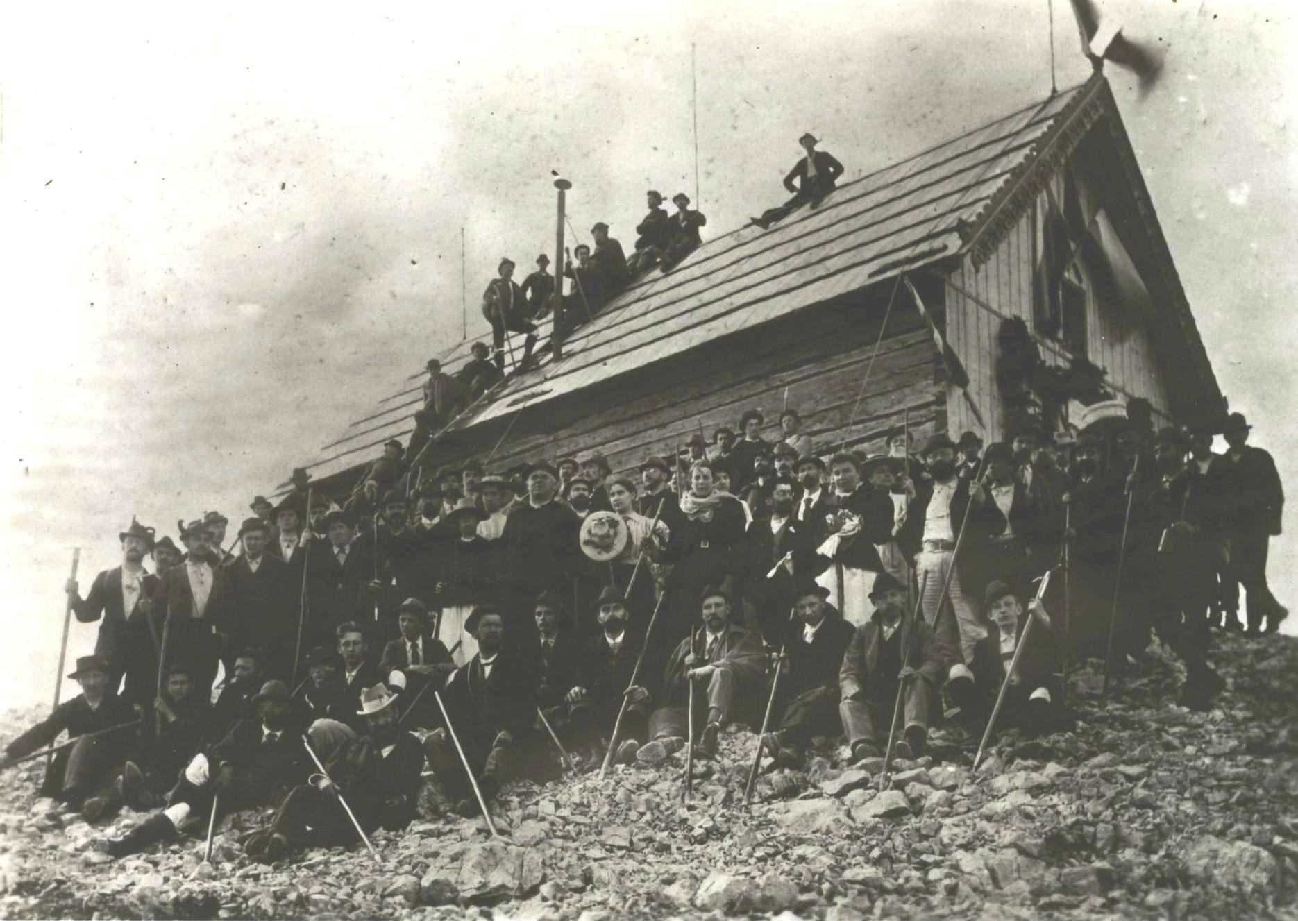 Otvoritev Triglavske koče na Kredarici leta 1896