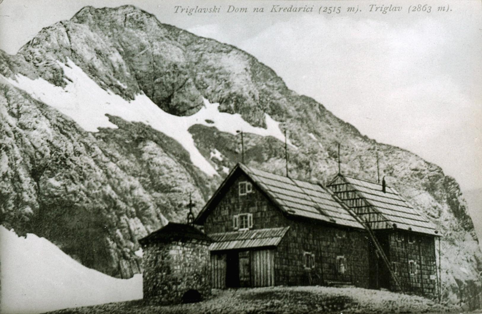 Triglavski dom - kmalu po prenovi leta 1909