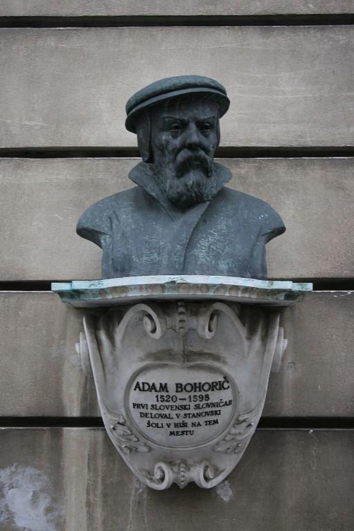 Doprsni kip Adama Bohoriča v Ljubjlani. Foto: wikimedia