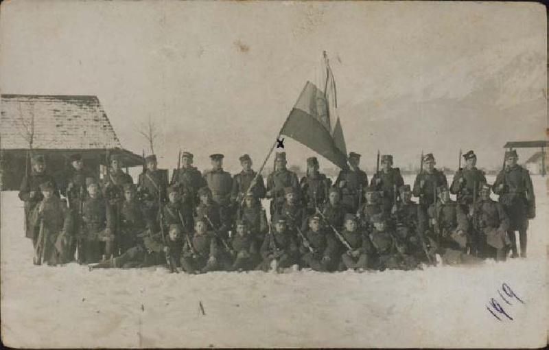 Maistrovi borci na Koroškem leta 1919. Foto: Wikimedia