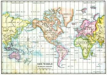Mercatorjeva projekcija. Foto: britannica.com
