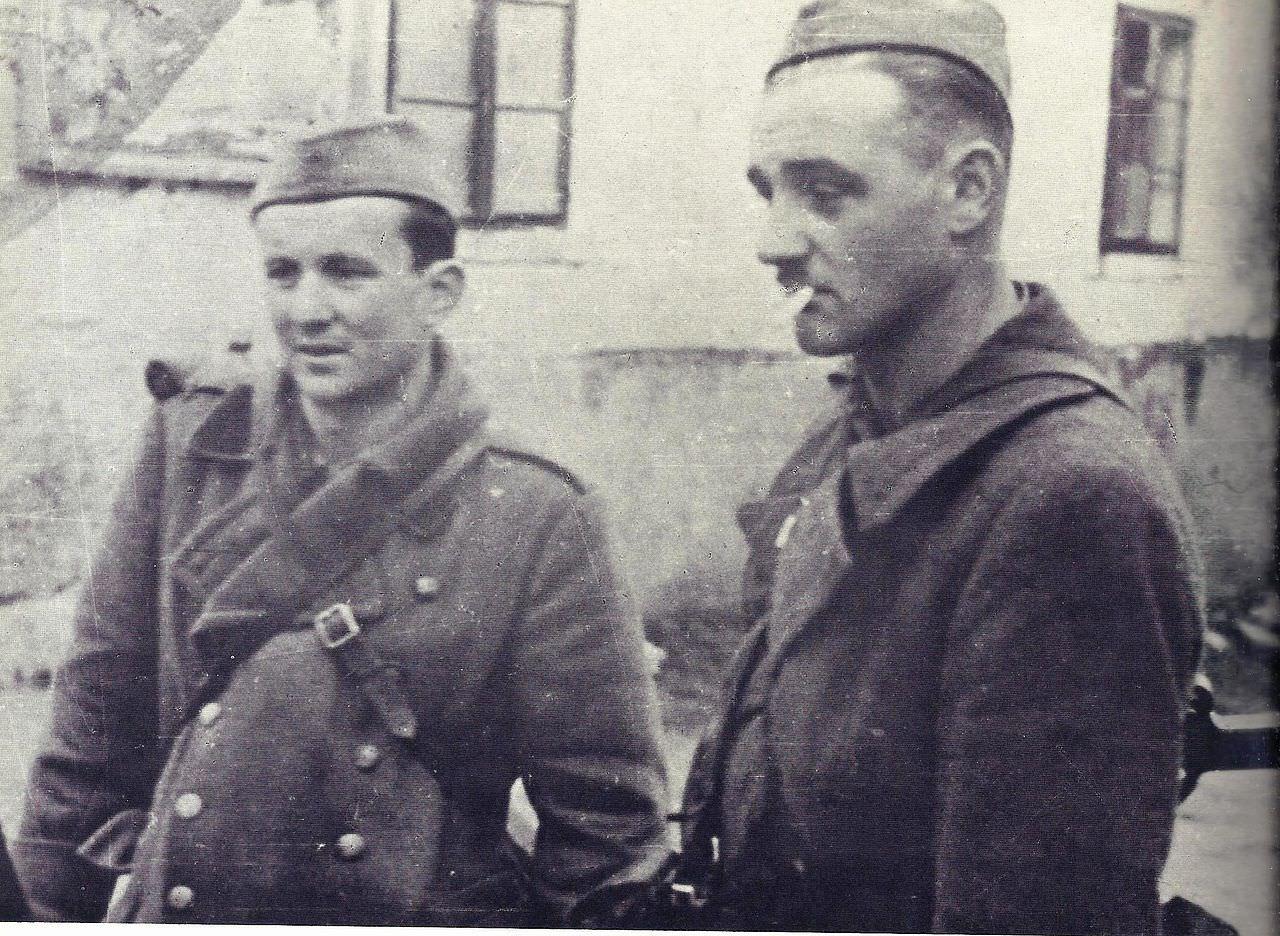 Boris Kraigher in Stane Dobovičnik v času partizanstva.