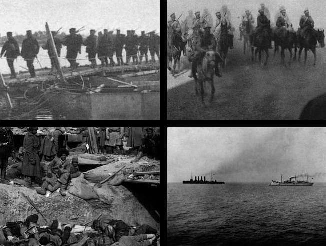 Prizori iz vojne.