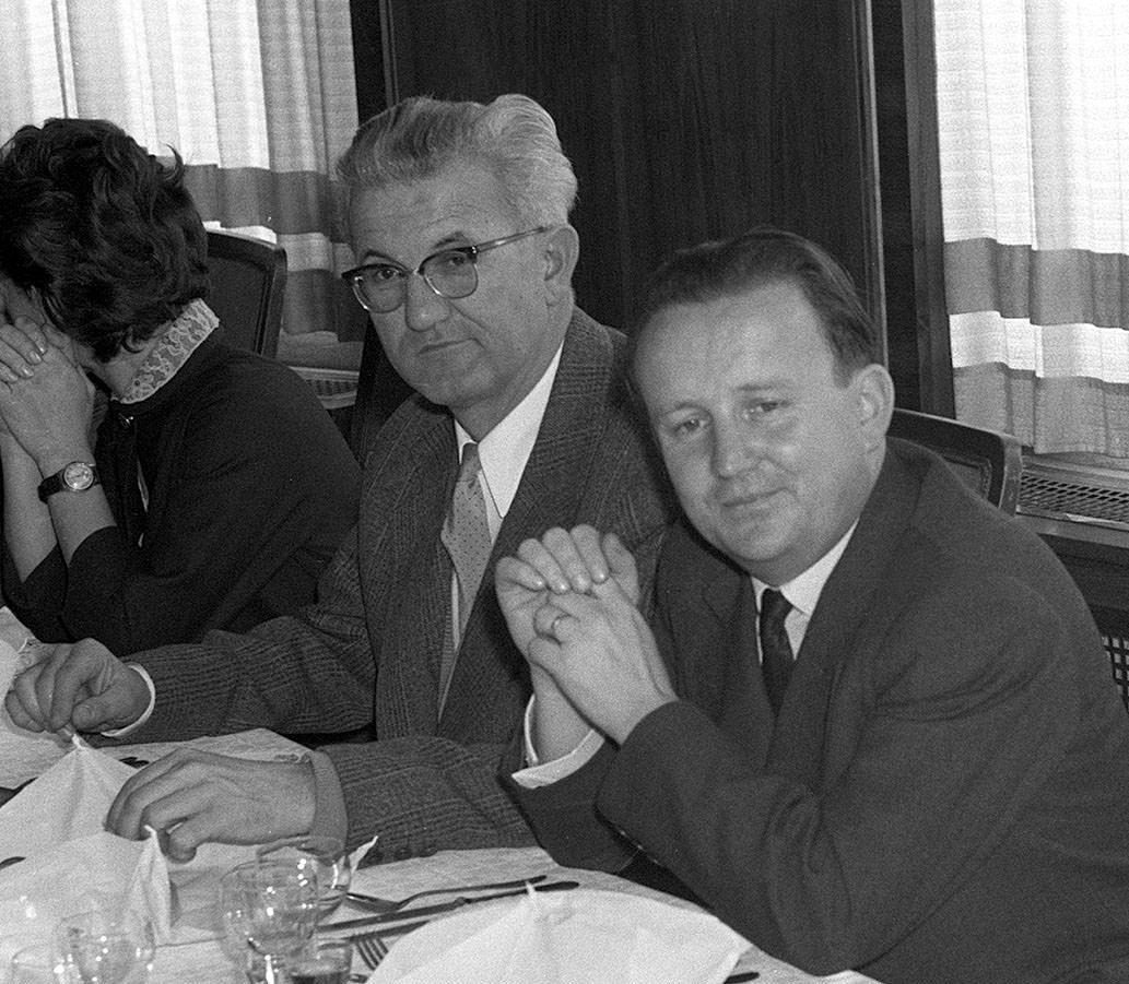 Petar Stambolić in Boris Kraigher 1958.