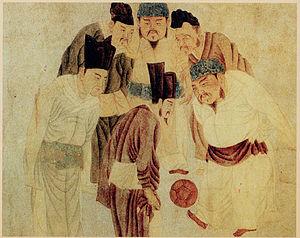 Kitajski cesar Taizu pri igri Tsu Chu s svojimi ministri. Foto: Wikimedia