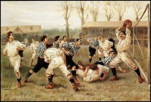 Nogomet v viktorijanski dobi. Foto: Tumblr