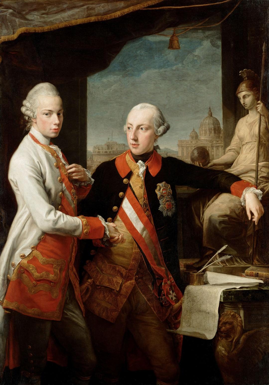 Jožef II in Leopold Toskanski (1769).