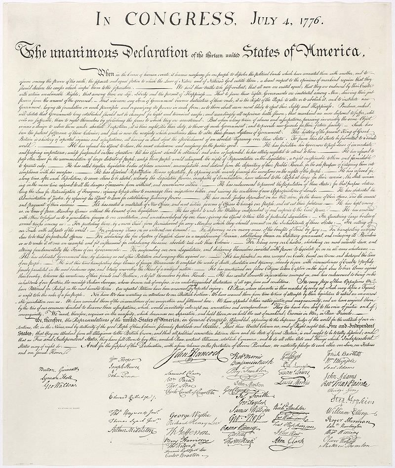 Deklaracija o neodvisnosti.