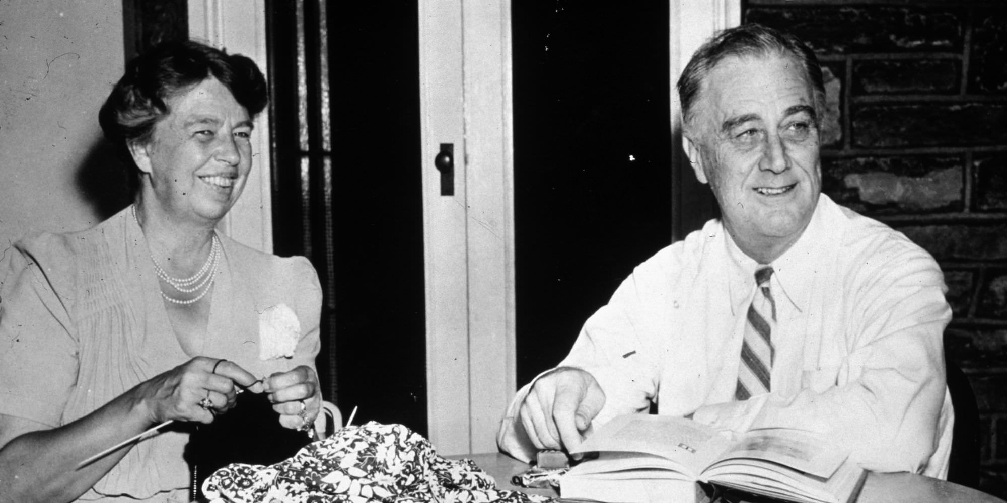 Franklin Delano Roosevelt in Eleanor Roosevelt.