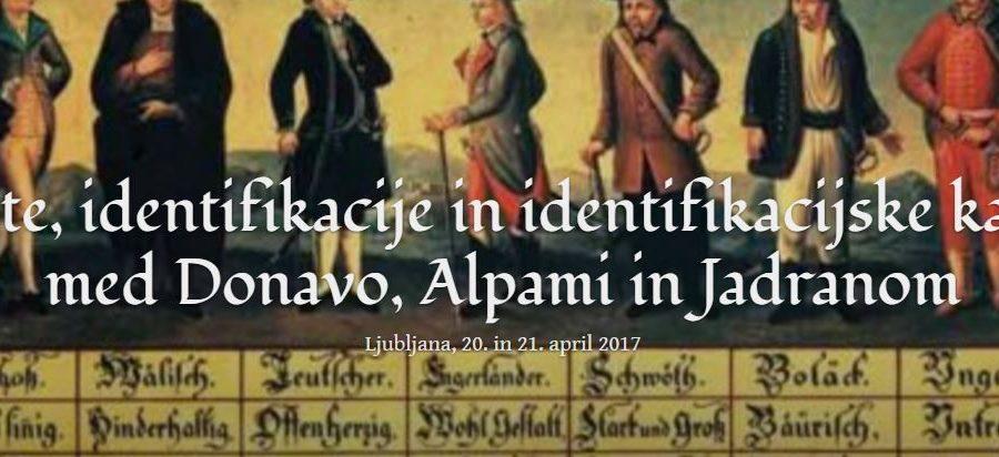 Identitete, identifikacije in identifikacijske kategorije med Donavo, Alpami in Jadranom