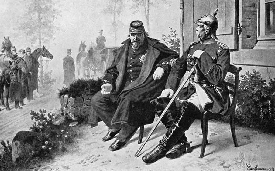 Napoleon III. v pogovoru z Bismarckom po porazu pri Sedanu. Foto: Wikimedia