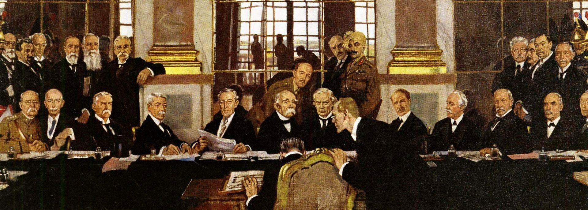 Podpis mirovne pogodbe z Nemčijo. Foto: commons.wikimedia.org
