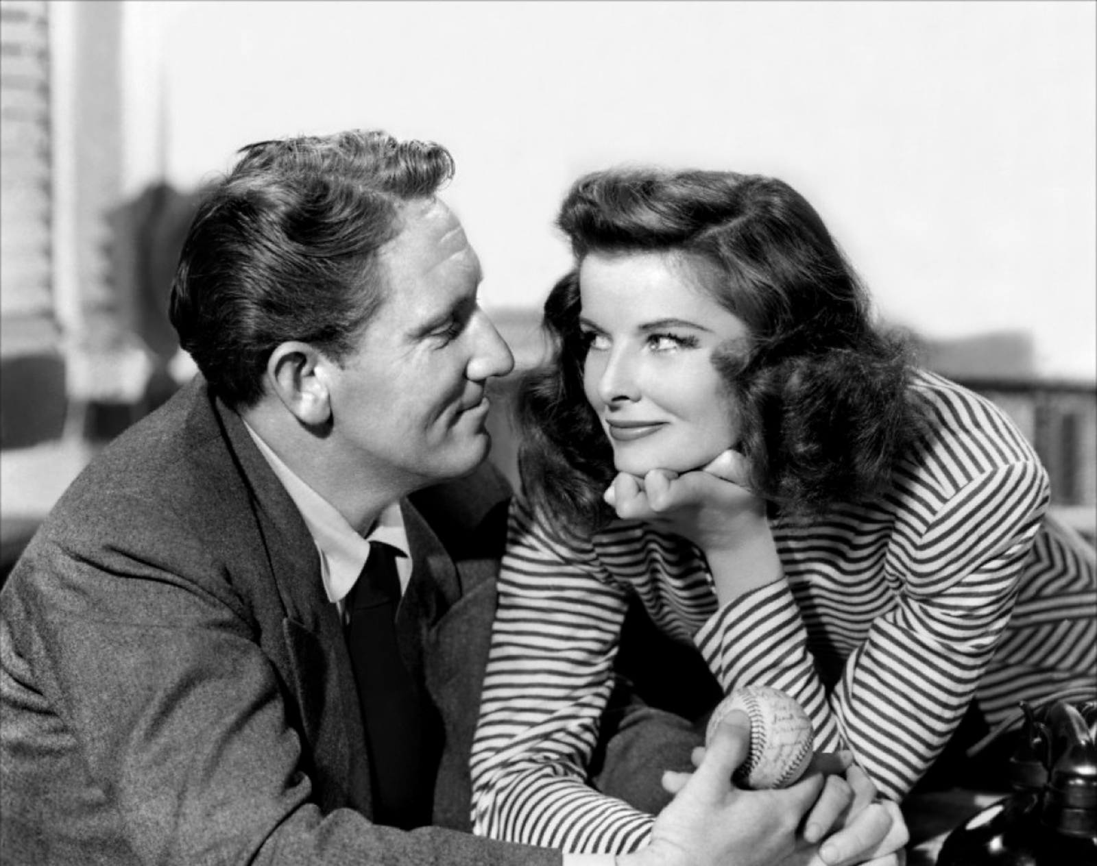 Katharine Hepburn in Spencer Tracy.