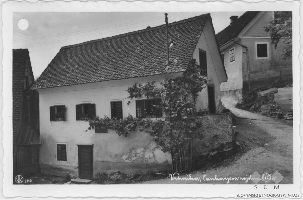 Cankarjeva rojstna hiša na Vrhniki.