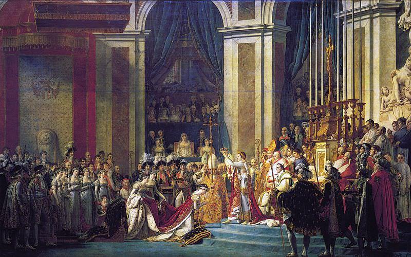 Napoleonovo kronanje leta 1804.