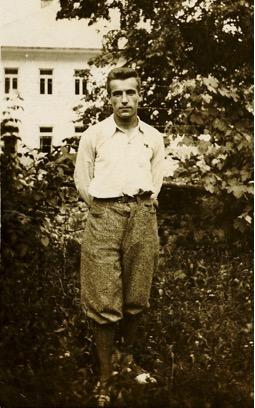 Franc Kavs, eden vodilnih članov čezsoške celice Tigra, leta 1938. Foto: hrani Jožica Kavs.