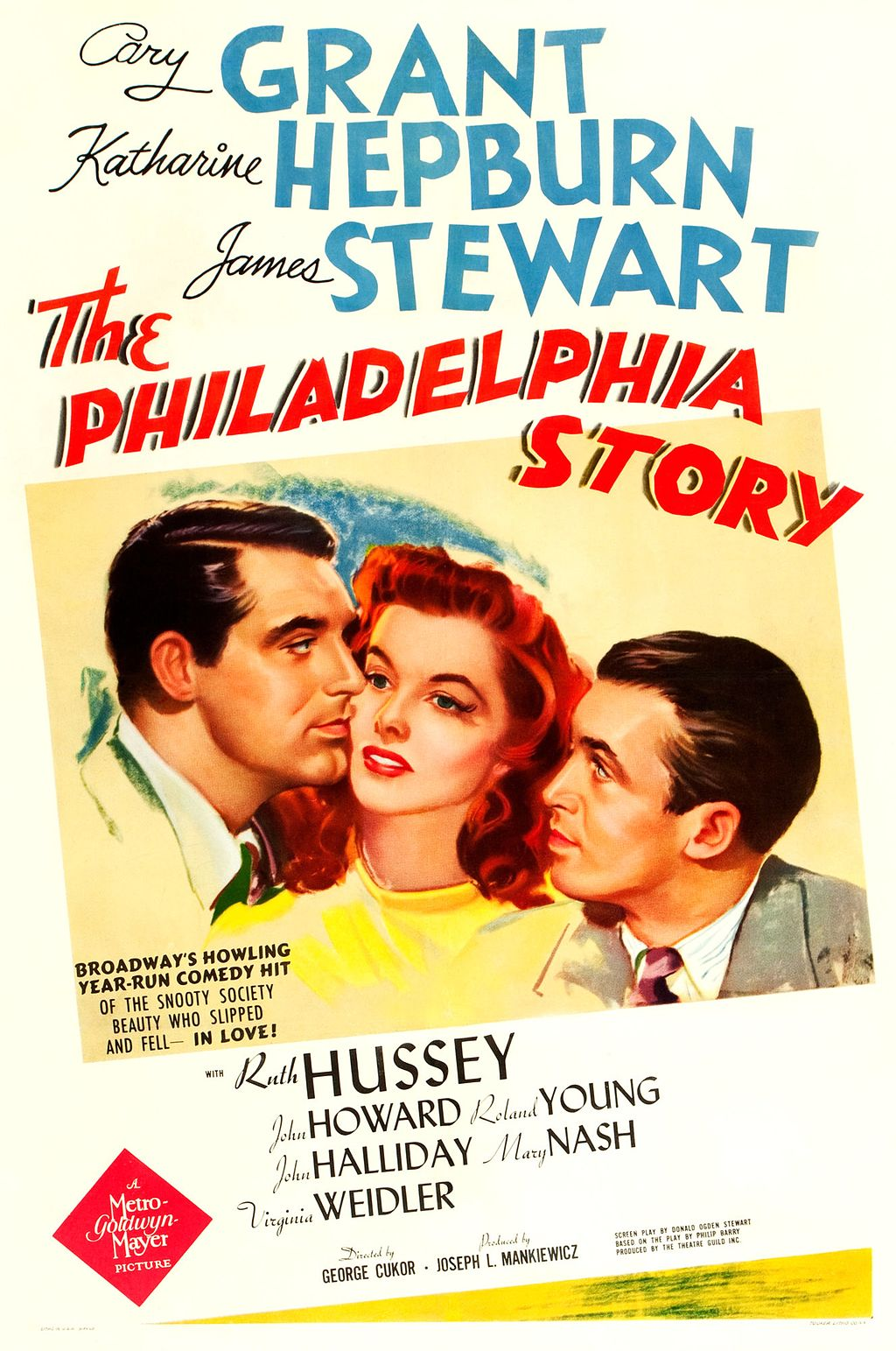Plakat za film The Philadelphia Story iz leta 1940.