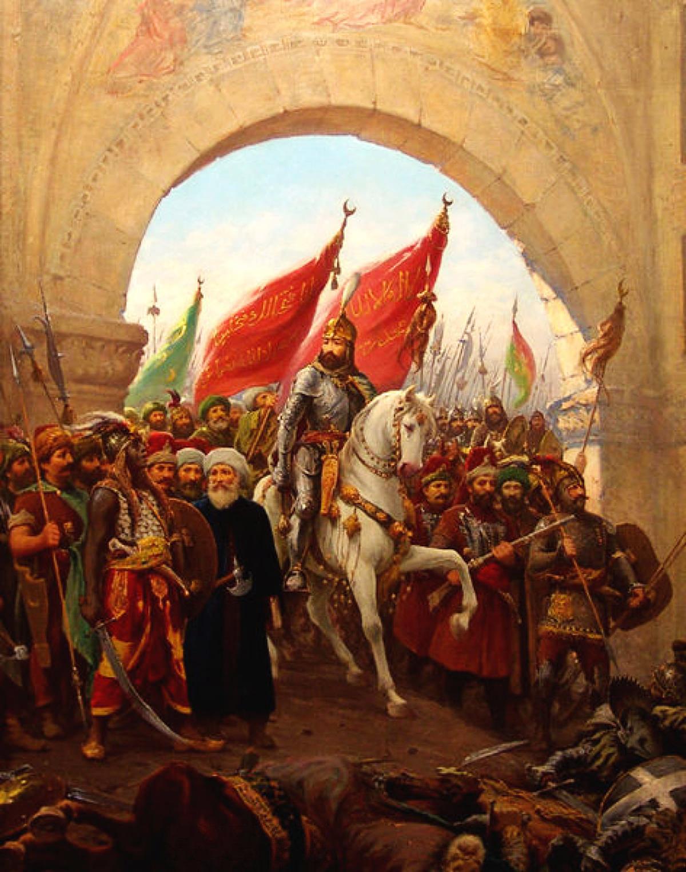 Prihod Mehmeda II. v Konstantinopel.