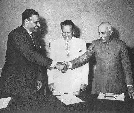 Nasser, Tito in Nehru.