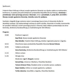 Soočanje s preteklostjo: Izzivi spravnega procesa v Sloveniji