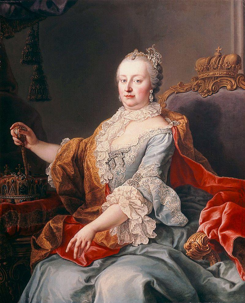 Marijini portret Martina van Maytensa iz leta 1759. Foto: Wikimedia