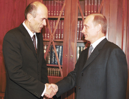 Drnovšek z Vladimirjem Putinom leta 2001. Foto: Wikimedia