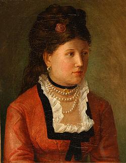 Portret Amalije Rahme (1873), hrani Narodna galerija Slovenije