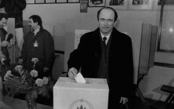 Plebiscit 23. 12. 1990 Foto: Joco Žnidaršič/Delo