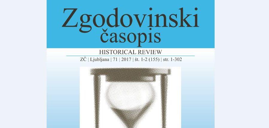 Nova številka Zgodovinskega časopisa