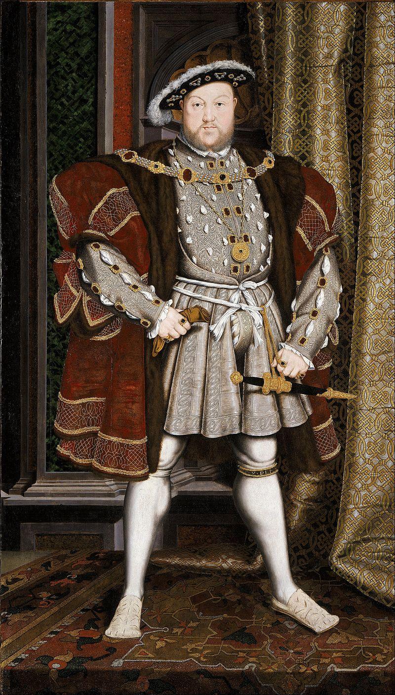 Portret Henrika VIII., ki ga je naredil Hans Holbein mlajši.Foto: Wikimedia