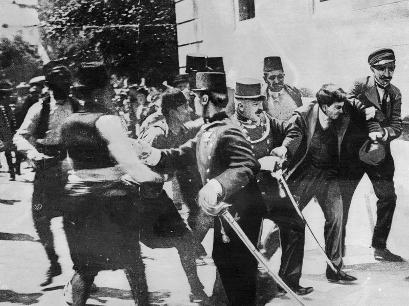 Aretacija Gavrila Principa. Foto: smithsonianmag.com