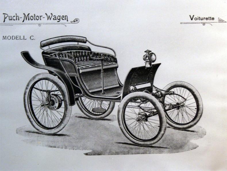 Leta 1906 je na ceste zapeljala prva serija avtomobilov Puch. Foto: euromobil.si