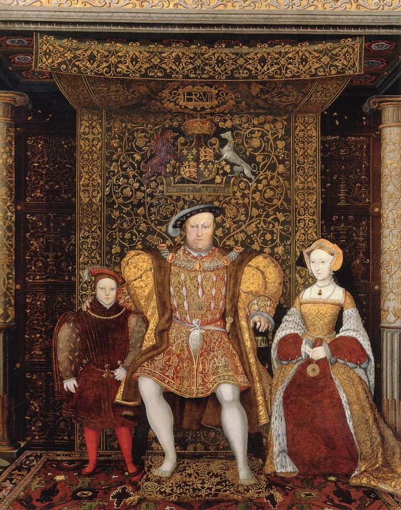 Jane Seymour s Henrikomin sinom Edvardom - portret je bil naslikan pozneje, ko je bil Henrik poročen s Catherine Parr. Foto: Wikimedia