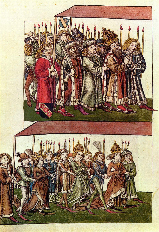 Barbara Celjska in Sigismund Luksemburški na Konstanškem koncilu v Konstanci ob Bodenskem jezeru