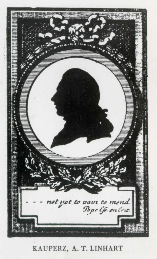 Do leta 2010 edina znana upodobitev Linharta, objavljena v pesniškem zborniku Blumen aus Krain (Cvetje s Kranjskega).