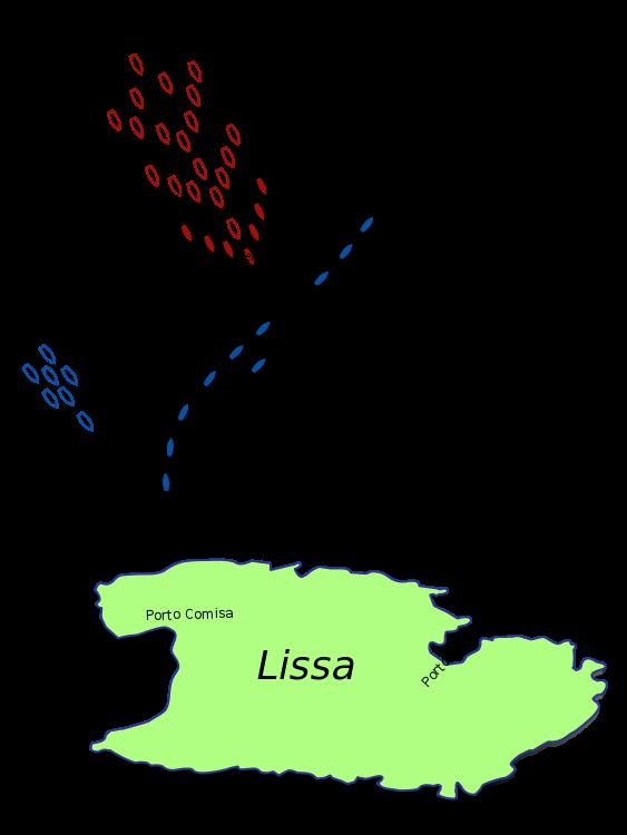 Razvrstitev obeh flot tik pred bitko. Foto: Wikimedia