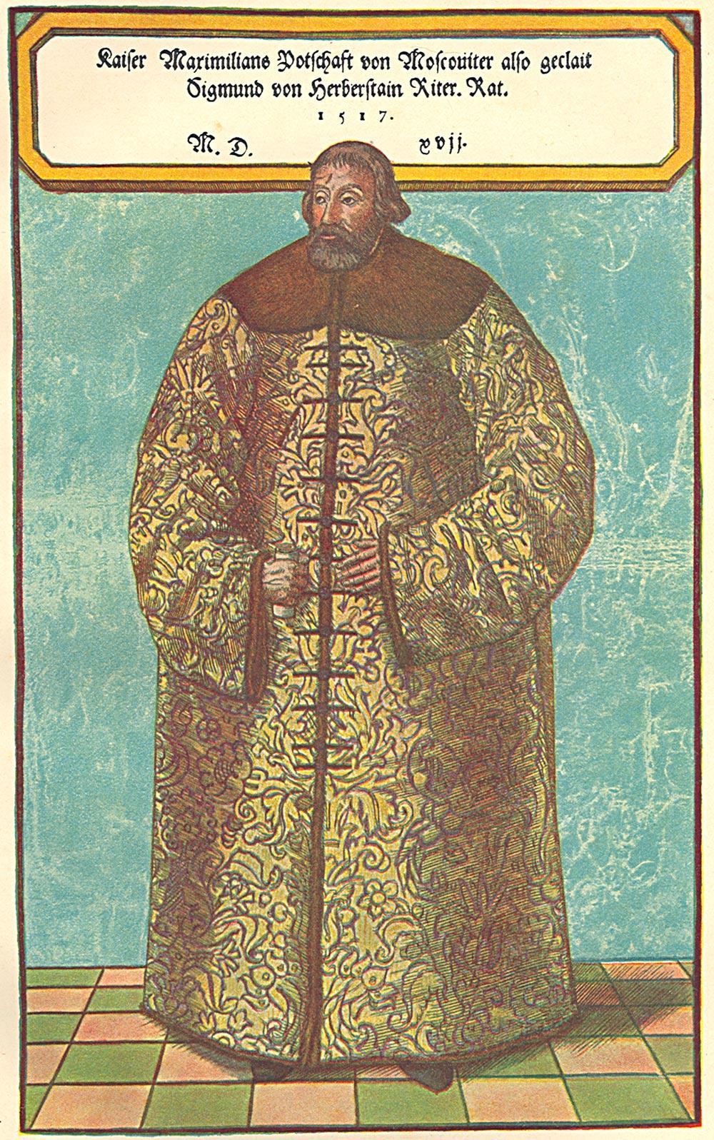 Žiga Herberstein v ruski obleki.