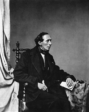 Hans Christian Andersen leta 1860.