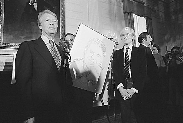 Jimmy Carter in Andy Warhol leta 1977
