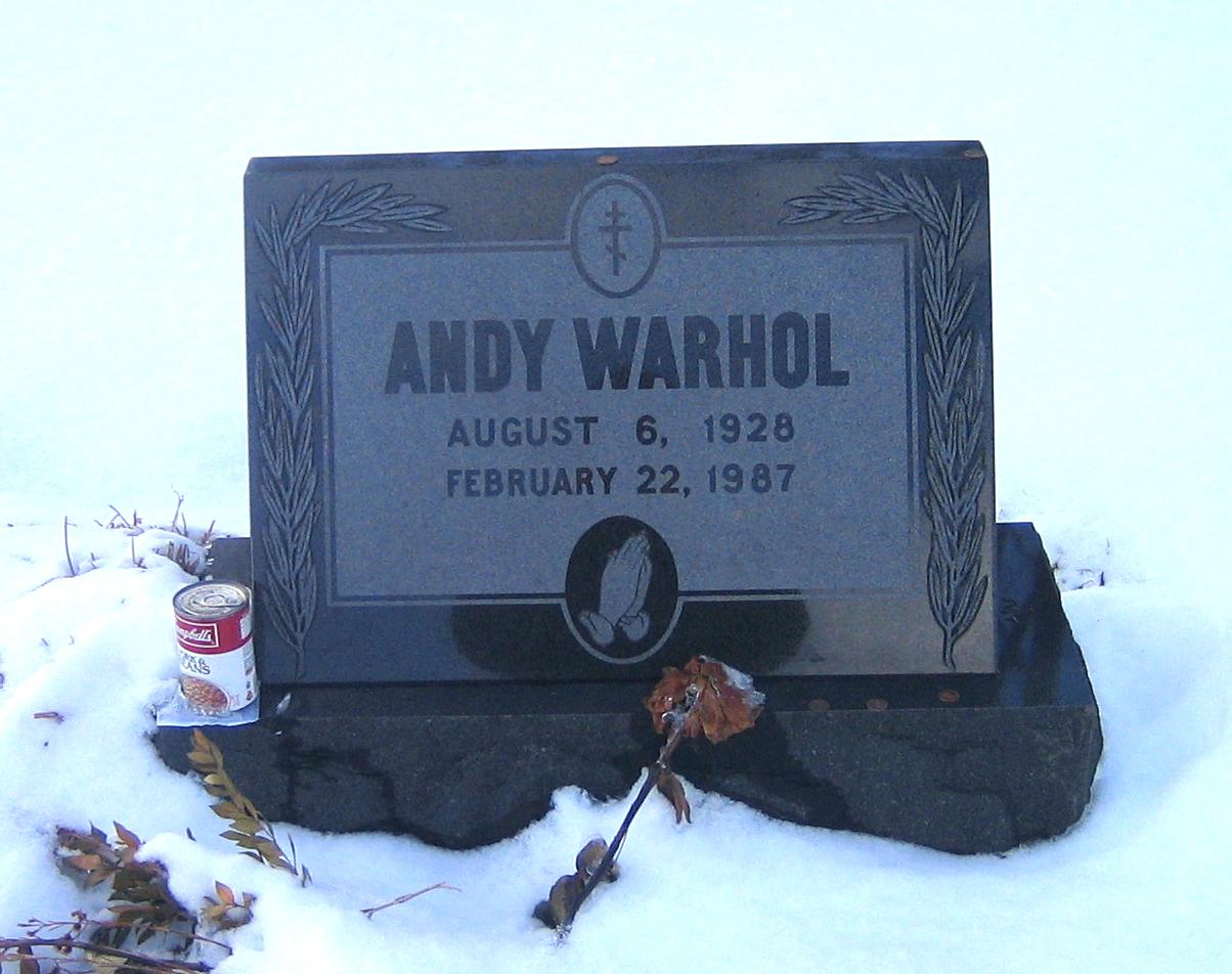Warholov grob v kraju Bethel Park (Pensilvanija)
