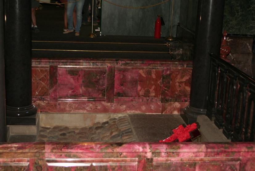 Lokacija smrti cara Aleksandra v hramu. Foto: Wikimedia
