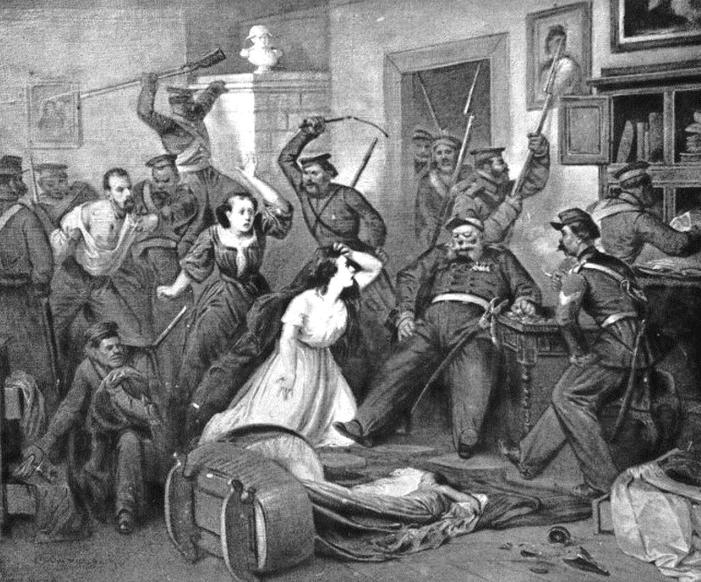 Rusko zatrtje poljske vstaje leta 1863. Foto: Wikimedia