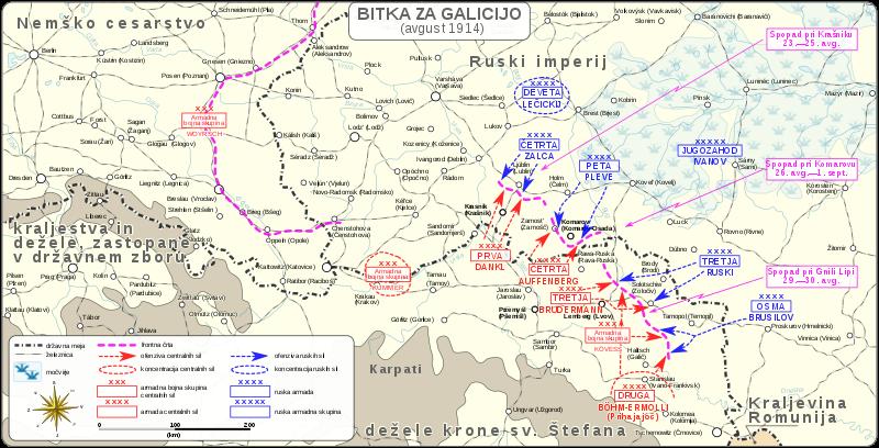 Predstavitev projekta: Vojaški zemljevidi bitk med Avstro-Ogrsko in Ruskim imperijem med prvo svetovno vojno